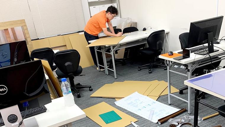 田中工務店のDIYパーティション作成
