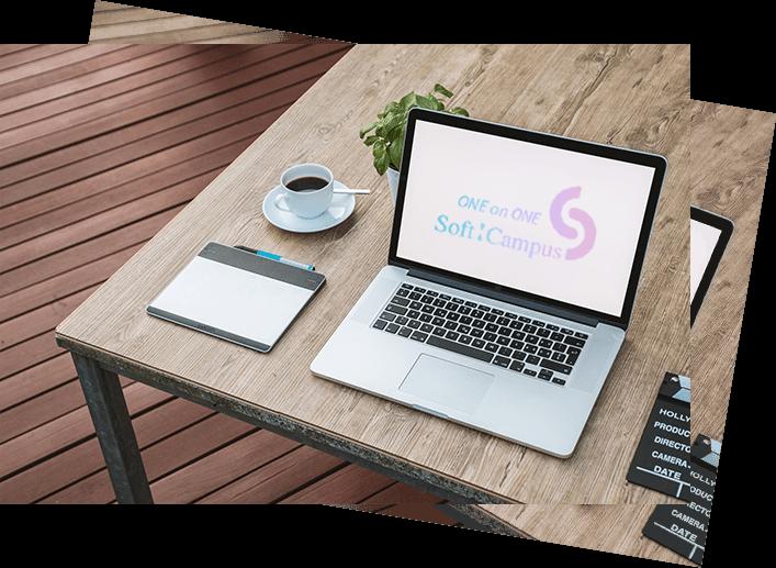 WebデザイナーになるためにPCでデザインを学ぶ画像